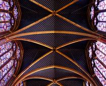 The Beautiful Ceiling of Saint Chapelle -- 3