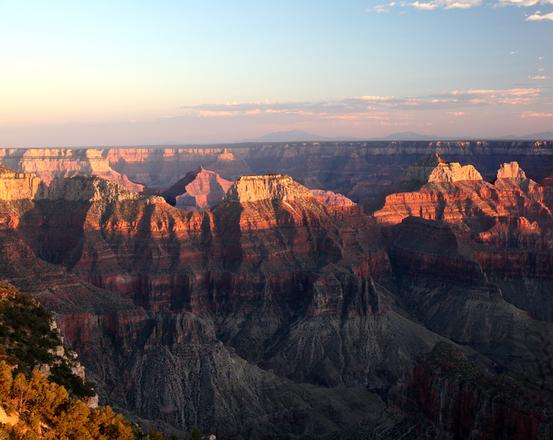The Subtle Colors of Sunset Over the Grand Canyon